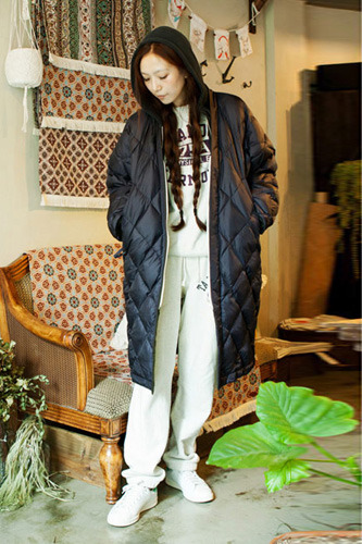 Oversize Riversible DownCoat_Navy